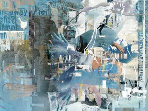 Maskierte Kaltfront, Digitale Collage, Katrin Salentin