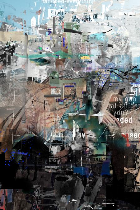 Nebel auf der Landebahn, 2012, Digitale Collage, 60×40 cm