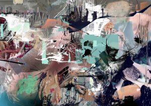 Während der Fahrt schaue ich aus dem Fenster, Digitale Collage, Kartin Salentin, 2014