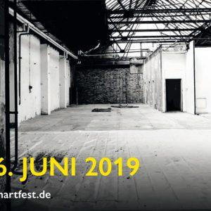 Transformart, Rathenauhallen, Berlin-Oberschöneweide, Katrin Salentin, Digitale Collagen auf Textilbanner