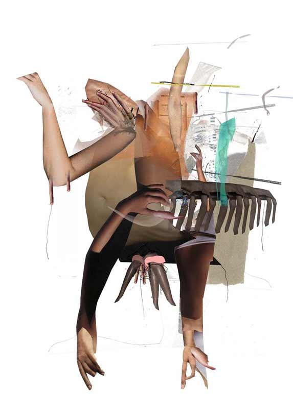 Nestflüchter, 2010, Digitale Collage, 70×50 cm