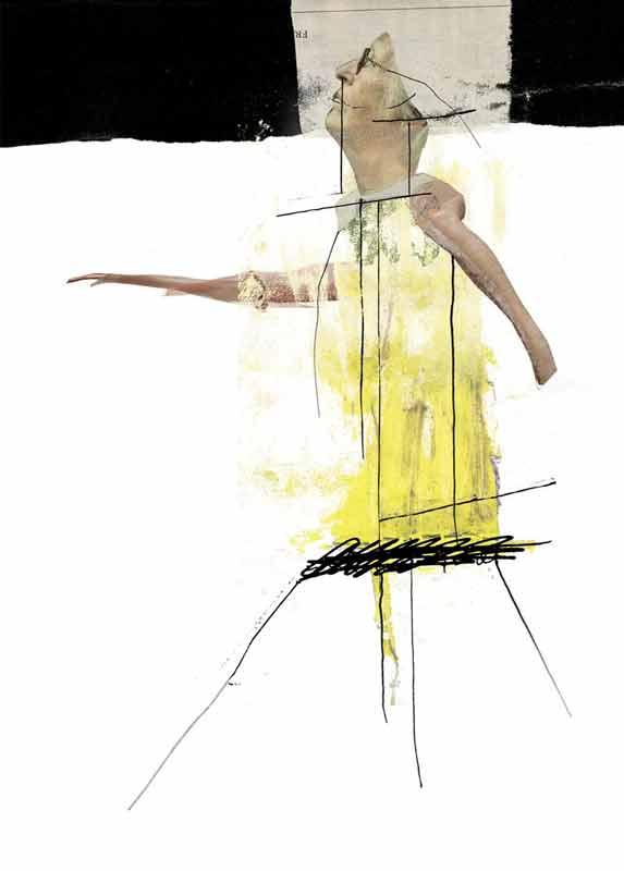 OT/Yogafrau, 2010, Digitale Collage, 70×50 cm